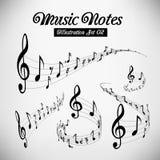 Bastones musicales Fotos de archivo libres de regalías