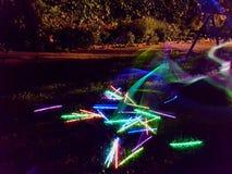 Bastoni al neon Immagine Stock Libera da Diritti