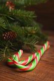Bastoni colorati luminosi della caramella Fotografia Stock