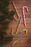 Bastoni colorati luminosi della caramella Fotografia Stock Libera da Diritti