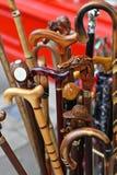 Bastoni da passeggio Fotografia Stock