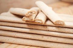 Bastoni del biscotto con il riempimento Immagine Stock