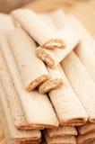 Bastoni del biscotto con il riempimento Fotografie Stock Libere da Diritti