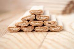 Bastoni del biscotto con il riempimento Fotografia Stock Libera da Diritti