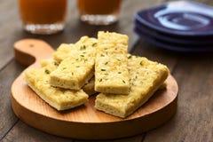 Bastoni del formaggio e dell'aglio Fotografie Stock
