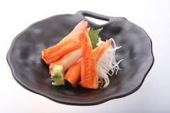 Bastoni del granchio con wasabi Immagini Stock Libere da Diritti