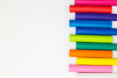 Bastoni del plasticine di colore di Ranibows per il gioco dei bambini Fotografia Stock Libera da Diritti