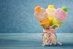 Bastoni della caramella gommosa e molle Fotografia Stock Libera da Diritti