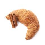 Bastoni della pasticceria e di cannella del croissant Immagine Stock