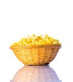 Bastoni della patata isolati su bianco Immagini Stock Libere da Diritti