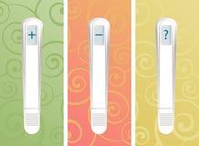 Bastoni della prova di gravidanza Fotografia Stock