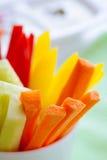 Bastoni delle carote, del cetriolo e del pepe Fotografia Stock Libera da Diritti
