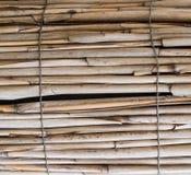 Bastoni di bambù asciutti, recinto Fondo, struttura immagini stock
