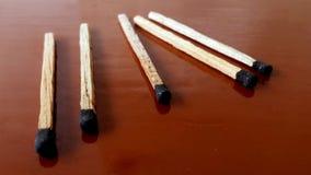 Bastoni di legno della corrispondenza Fotografia Stock