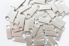 Bastoni di USB del metallo Fotografia Stock