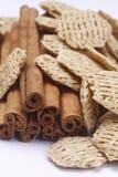 Bastoni e cereale di cannella Fotografia Stock Libera da Diritti