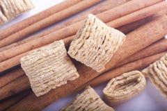 Bastoni e cereale di cannella Immagini Stock