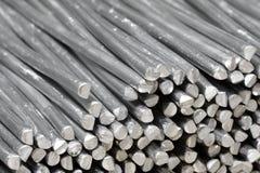 Bastoni grezzi di alluminio Fotografia Stock