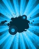 Bastoni il flayer del partito per l'evento o il manifesto di musica Fotografia Stock