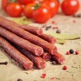 Bastoni o salsiccie del manzo Immagine Stock