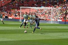 Bastos scores in Emirates Cup '10 stock image