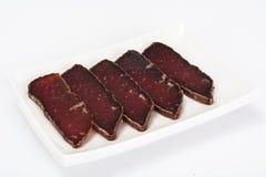 Basturma de la carne de vaca secada, tajado fotos de archivo