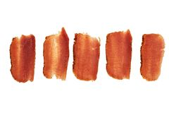 Basturma, dried tenderloin of beef meat, thinly sliced, on a white background royalty free stock photos