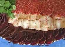 Basturma e salsicha de Lardtallow Fotos de Stock Royalty Free