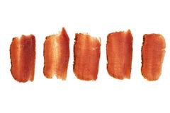 Basturma, getrocknetes zartes Lendenstück des Rindfleischfleisches, dünn geschnitten, auf einem weißen Hintergrund lizenzfreie abbildung