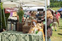 Bastyr University Herb and Food Fair tea merchant Stock Photos