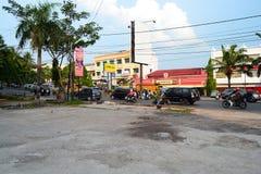 Basuki Rahmat Steet Palembang Arkivbild