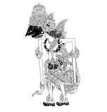 Basukiswara. A character of traditional puppet show, wayang kulit from java indonesia stock illustration