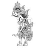 Basukunti. A character of traditional puppet show, wayang kulit from java indonesia stock illustration