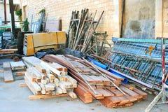 Basura de la construcción Fotografía de archivo libre de regalías