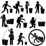 Basura de limpieza de la gente Ilustración del Vector