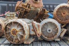 Basura de los motores eléctricos Imagenes de archivo