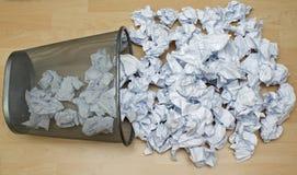Basura de papel Imágenes de archivo libres de regalías