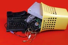 Basura del ordenador Foto de archivo libre de regalías