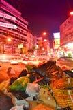 Basura en la ciudad. Foto de archivo libre de regalías