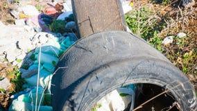 Basura en Shantytown imagenes de archivo
