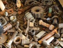 Basura metalúrgica Fotos de archivo libres de regalías