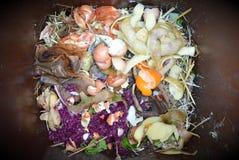 Basura orgánica de la cocina Fotos de archivo libres de regalías