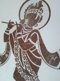 Basuri παιχνιδιού krishna Λόρδου στοκ φωτογραφία