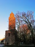 Baszta Morze Czerwone - one of the most emblematic monuments in Stargard Szczeciński. Baszta Morze Czerwone - one of the most emblematic monuments in stock photography