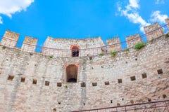 Basztowa fortyfikaci ściana Zdjęcia Stock