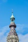 Basztowa iglica Holenderski kościół fotografia royalty free