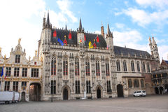 Basztowa sala & x28; Stadhuis Samochód dostawczy Brugge& X29; w Bruges, Belgia Obraz Royalty Free