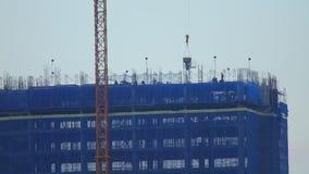 Basztowego żurawia Przemysłowa Betonowa budowa Azja zbiory
