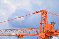 Basztowego żurawia przemysłu budowy budynków miejsca miasto Obraz Royalty Free