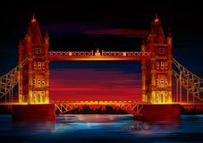 Basztowego Bridżowego światu sławny dziejowy zabytek Londyn ilustracji